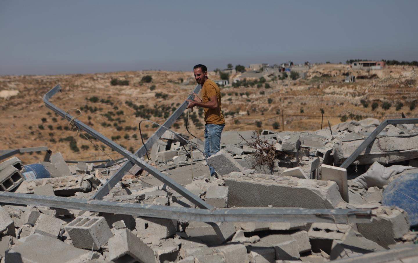 West Bank rubble