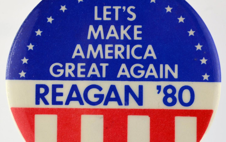 1980 Reagan campaign button