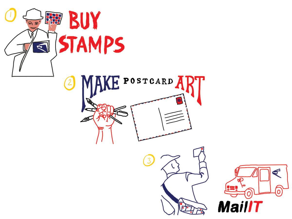 A Collective Art Project to Support Your Local Post Office 1