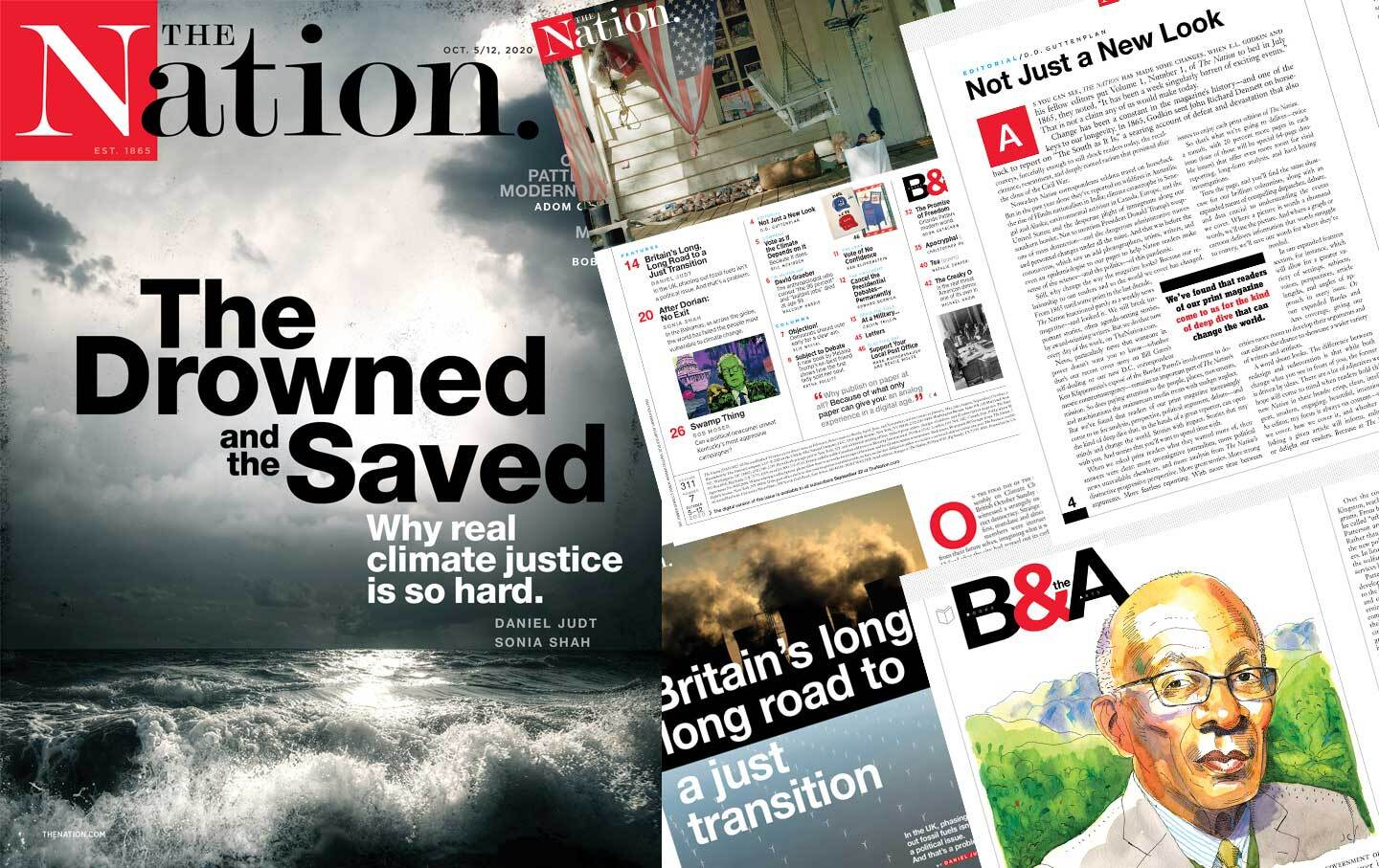 "'The Nation' Unveils New Look, New Logo With Inaugural Redesigned Issue, ""The Drowned and the Saved"""