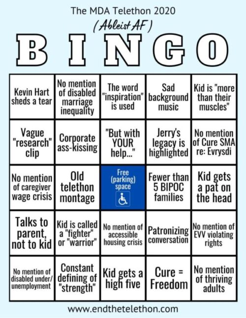MDA telethon bingo