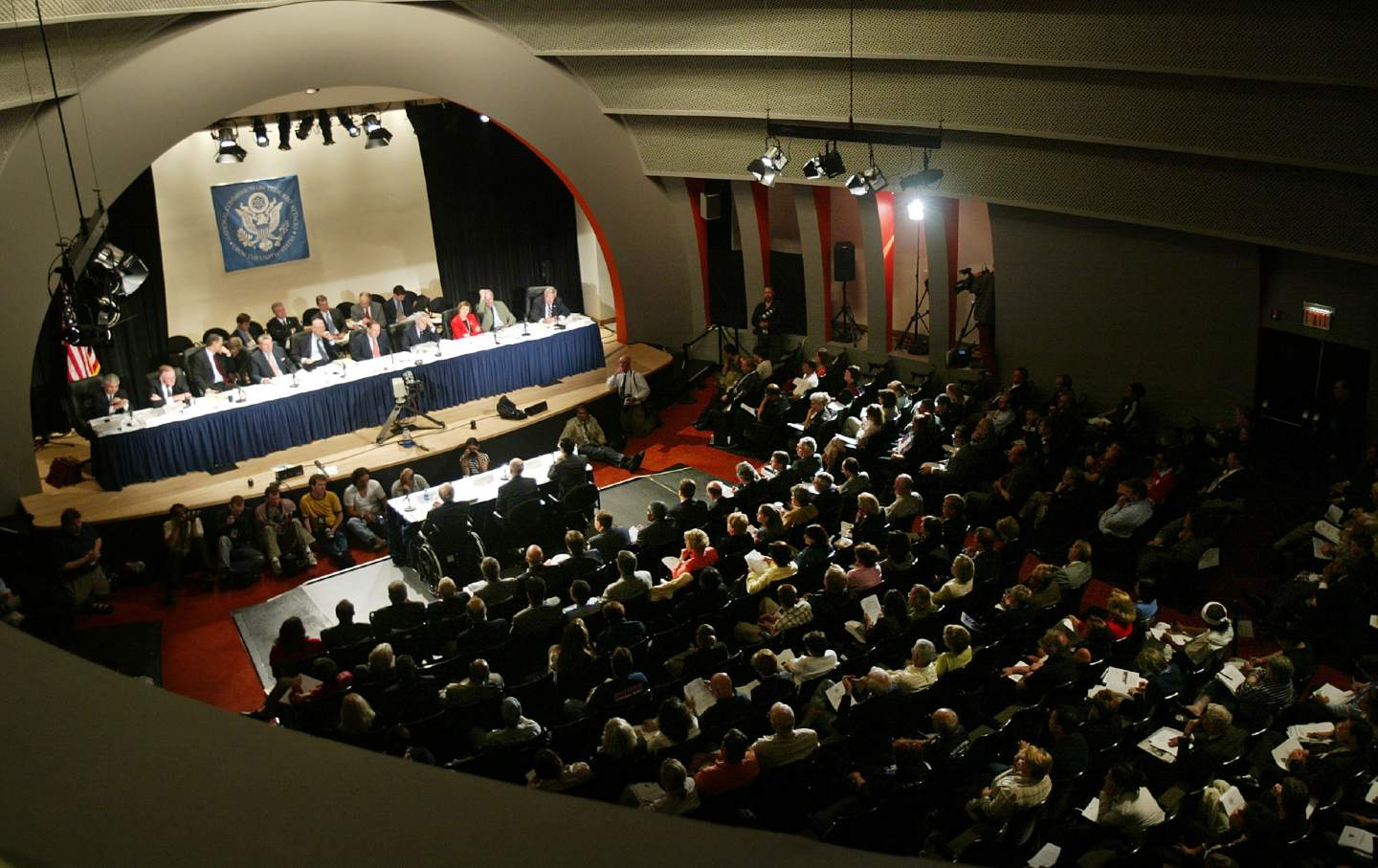 The 9/11 commission meets on stage