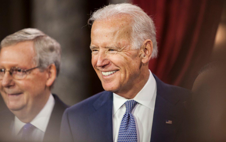 Joe Biden and Mitch McConnell