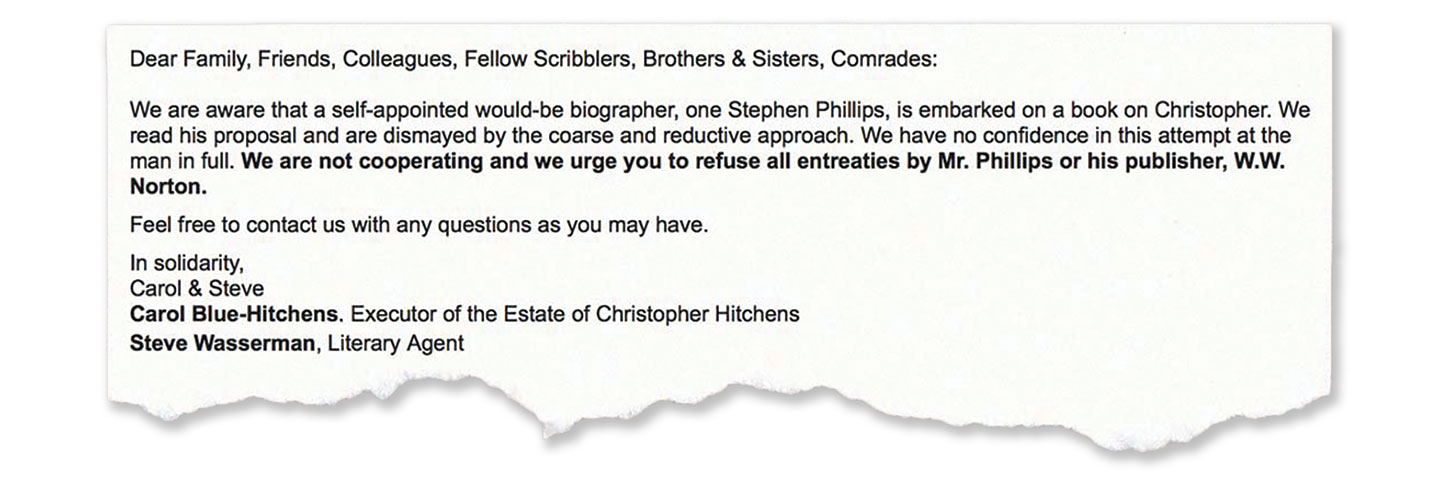 Does Christopher Hitchens Need an Authorized Biography? 2