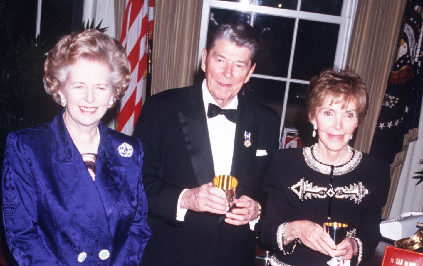 Ronald and Nancy Reagan and Margaret Thatcher