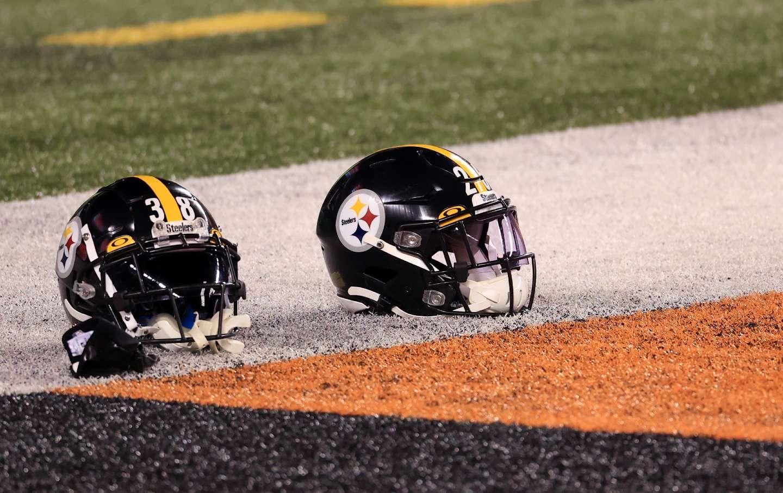 NFL football helmets