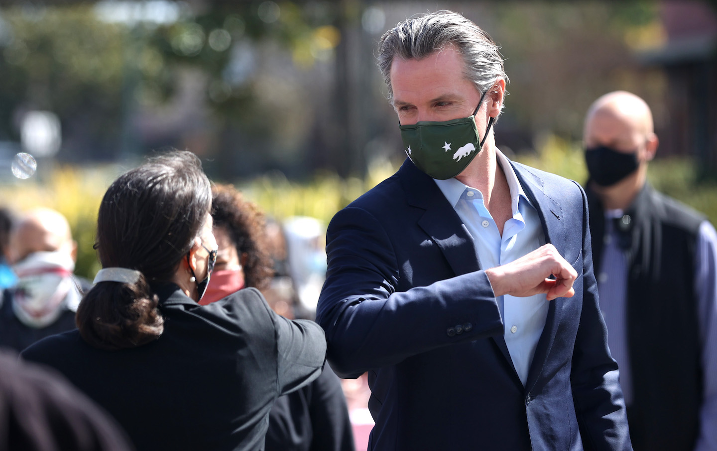 Governor Gavin Newsom Visits School To Highlight State's Reopening Efforts