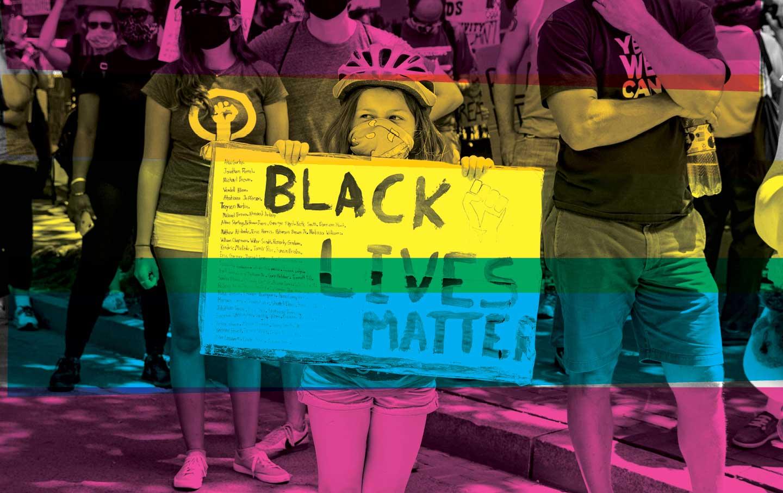 Kids participate in a D.C. Black Lives Matter protest