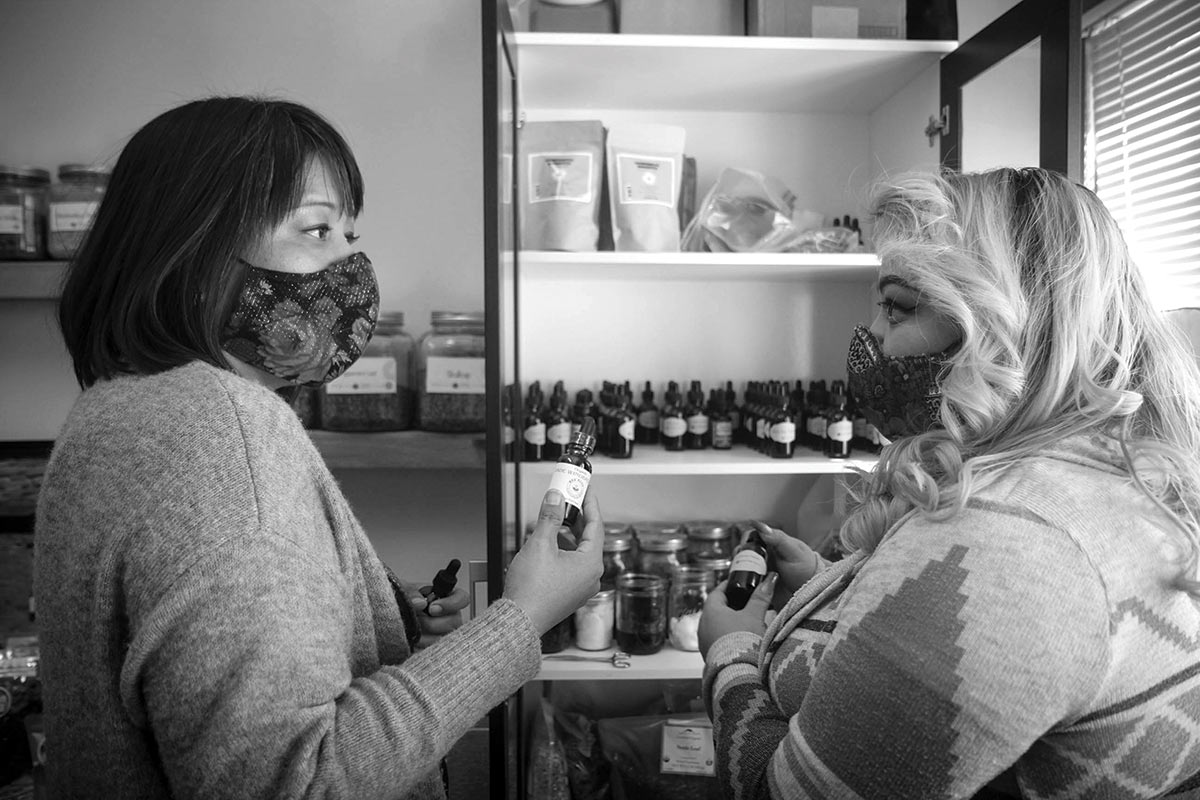 earth medicines and tinctures at the Changing Woman Initiative