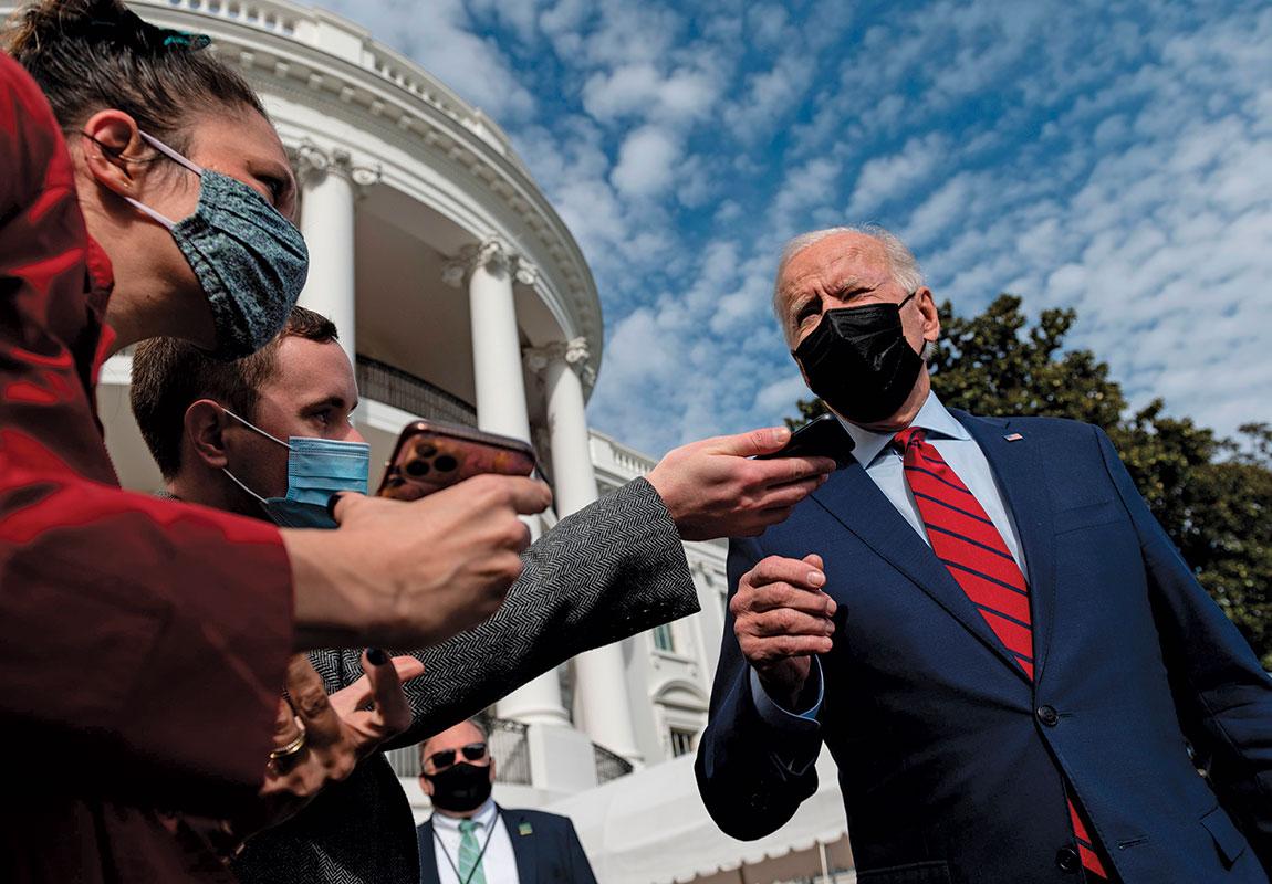 masked Biden