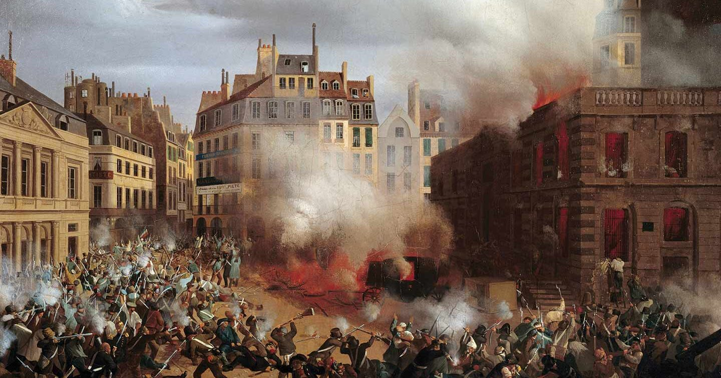 The Burning of the Château d'Eau at the Palais-Royal
