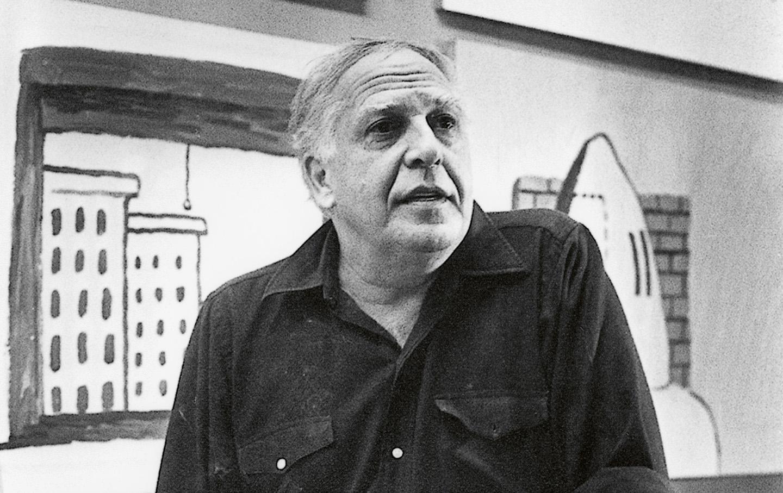 Guston in his Woodstock studio