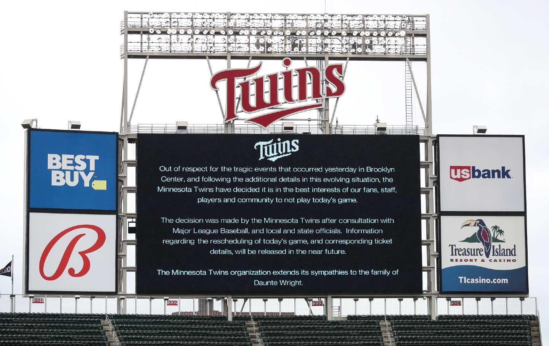Twins MLB Baseball Game Postponement