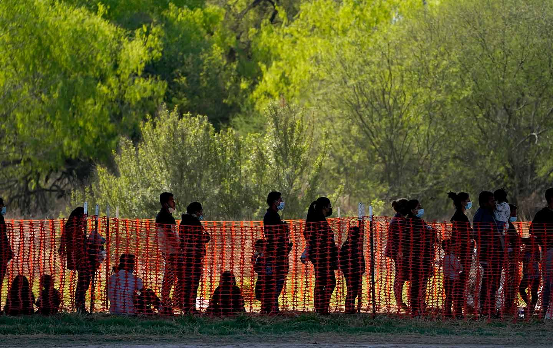 Migrants at the US-Mexico border