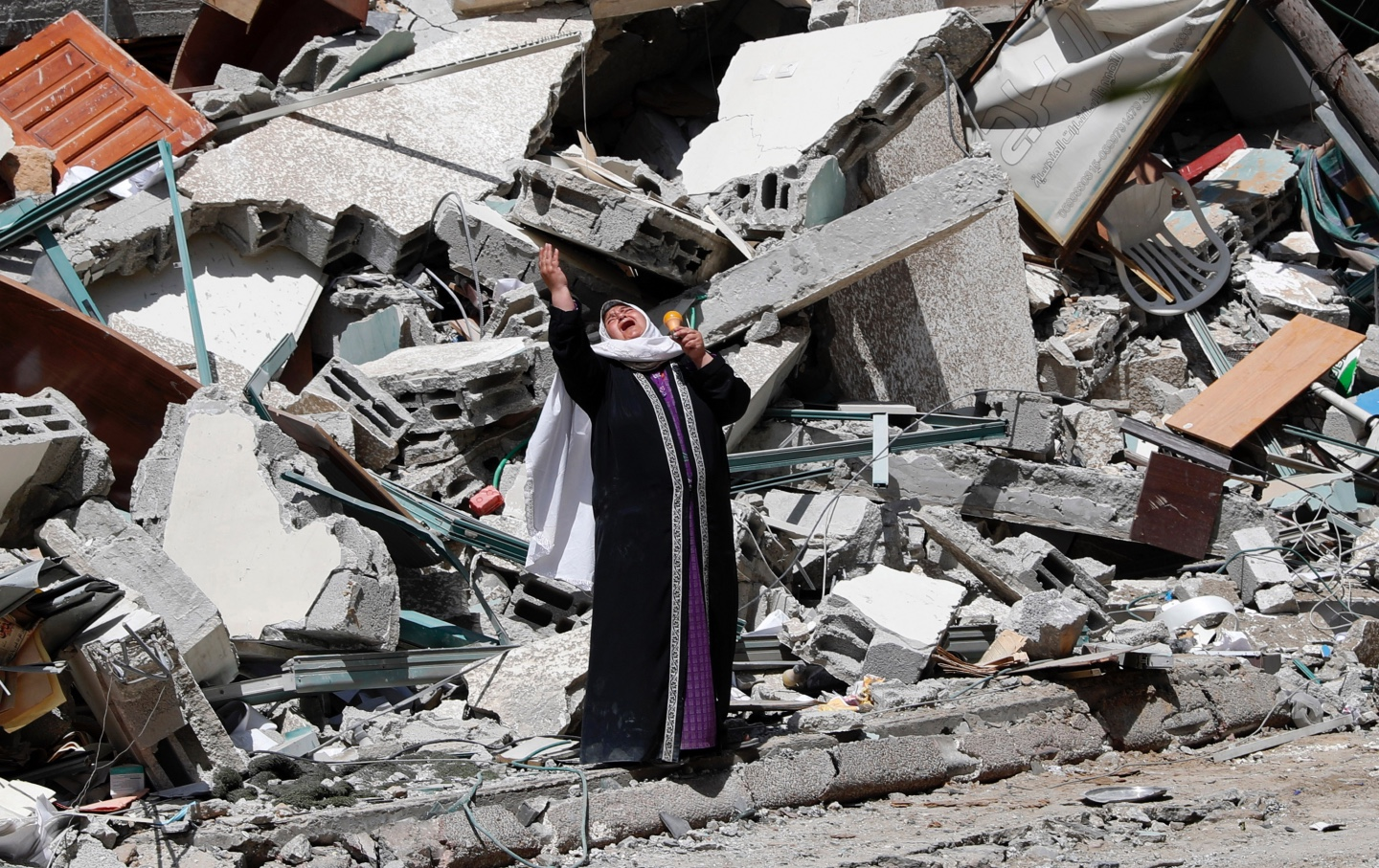 Woman in Gaza after airstrike