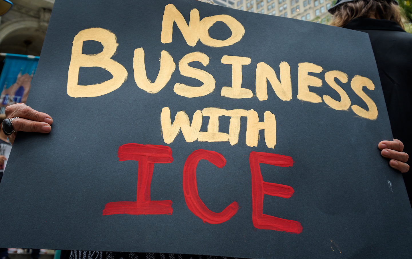 Protesters against ICE