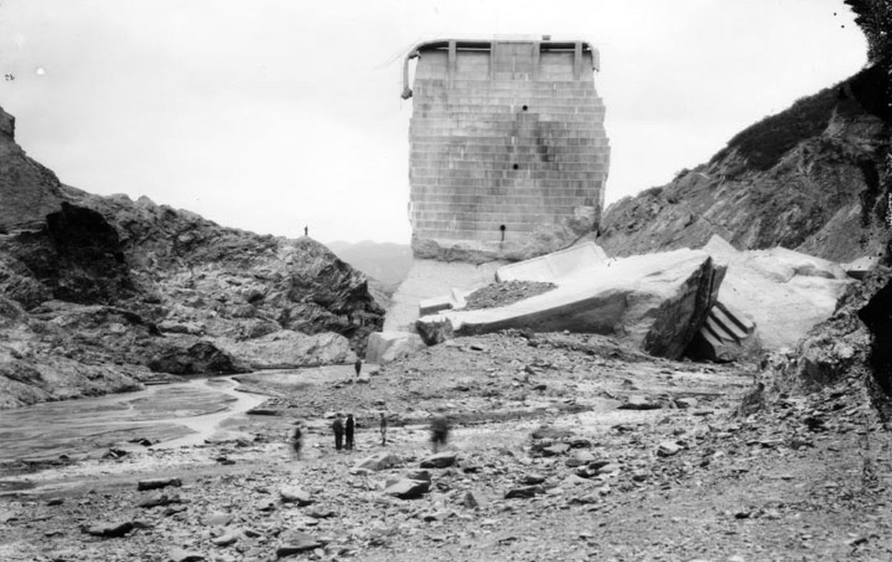Standing section of St. Francis Dam