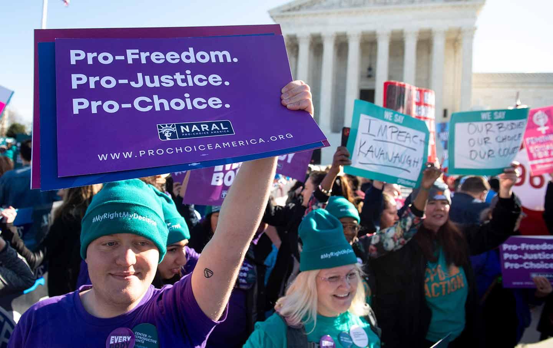 Pro-choice rally in Washington, DC