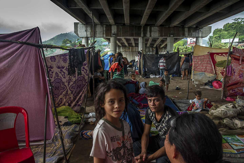 Hondurans displaced by hurricanes