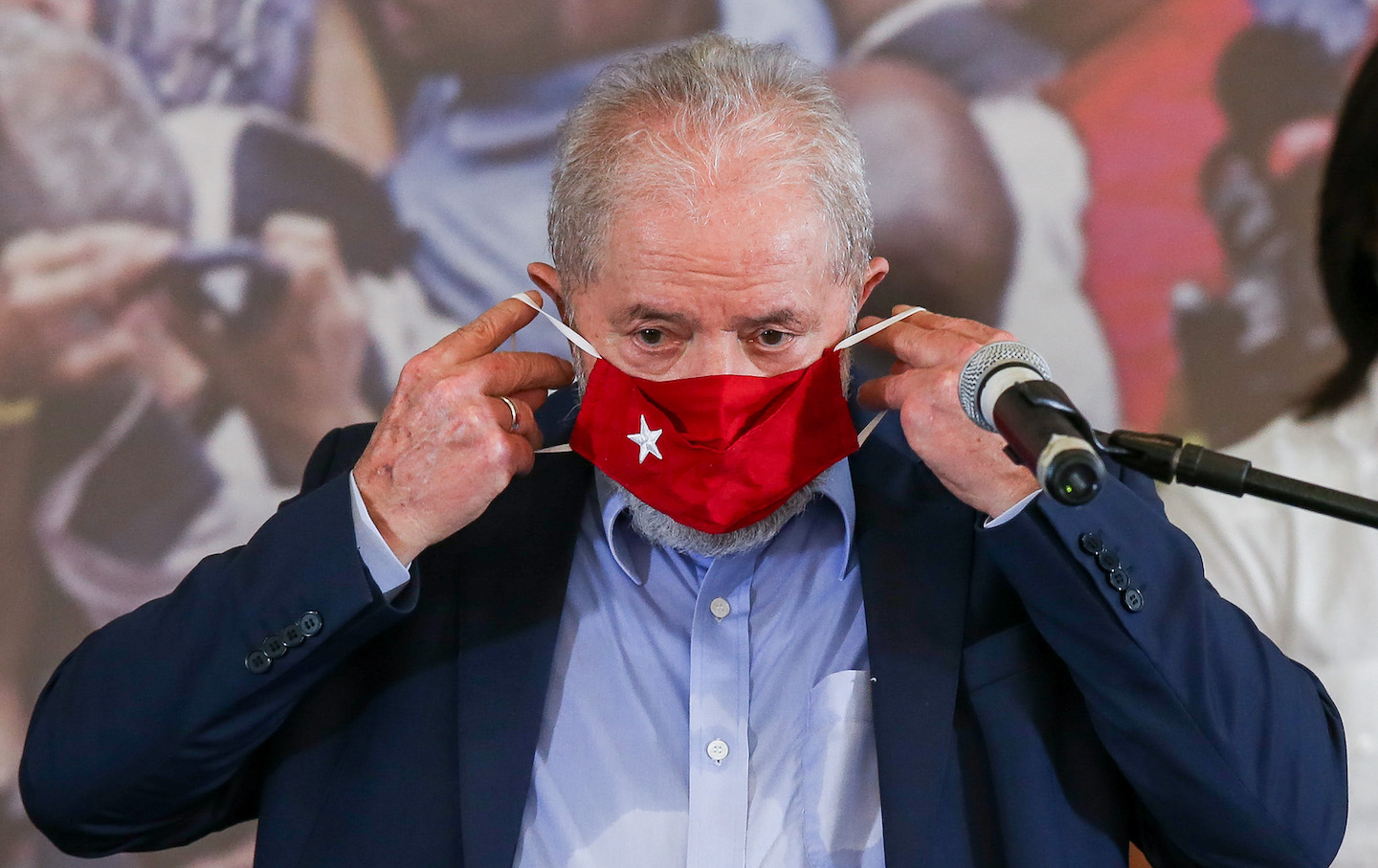 Lula Da Silva Gives Press Conference After Convictions Against Him Annulled