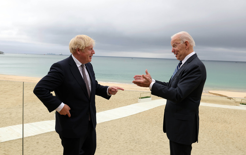 Boris Johnson and Joe Biden