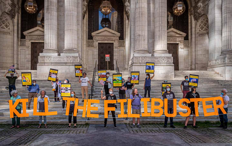 Filibuster protest