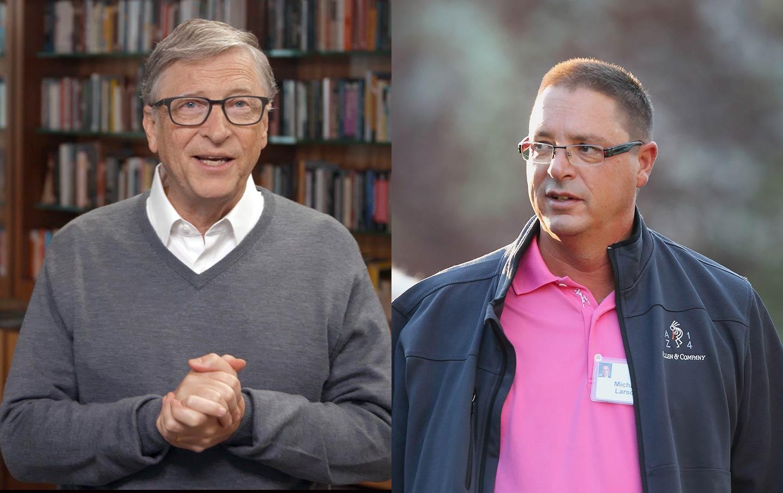 Bill Gates and Michael Larson