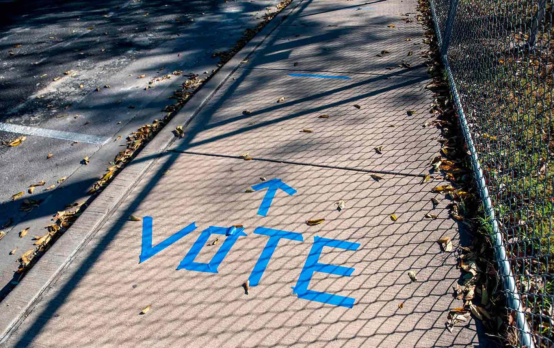 Texas vote sign
