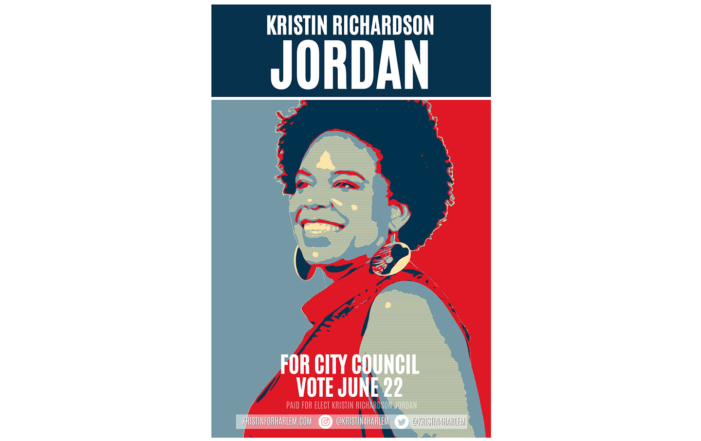 Campaign poster for Kristin Richardson Jordan