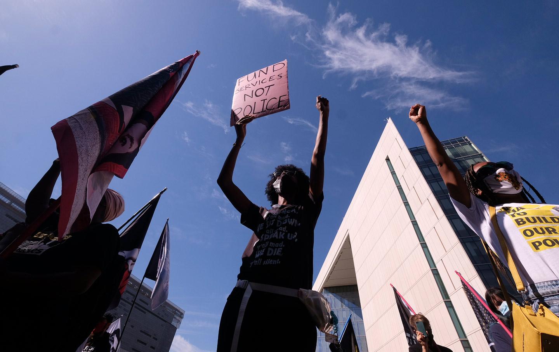 Black Lives Matter protest in Los Angeles