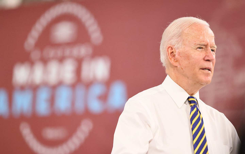 Joe Biden speaks at Mack Truck Lehigh Valley Operations