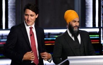 Justin Trudeau and Jagmeet Singh