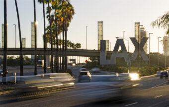 LAX sign at Los Angeles International Airport