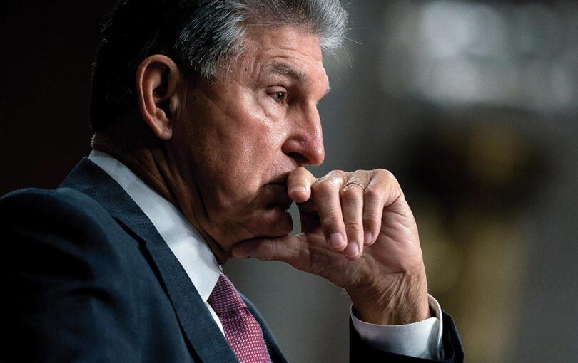 a pensive Joe Manchin