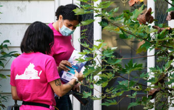 Planned Parenthood volunteers canvass for Democratic candidates in Virginia